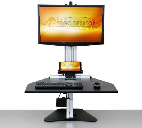 Electric Kangaroo Pro - height adjustable standing desk -Ideal for taller users and heavier monitors