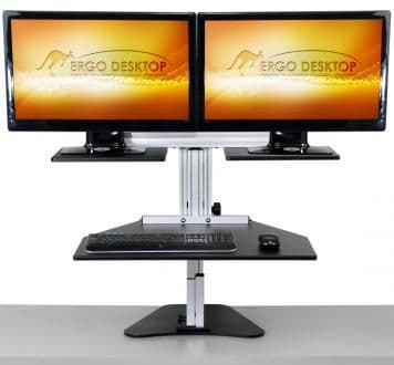Kangaroo Dual- standing desk for 2 monitors