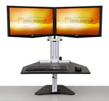 Kangaroo Elite- standing desk for 2 monitors