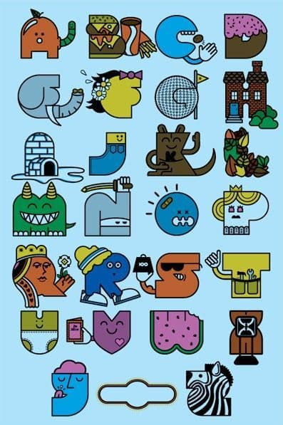 Alphabet Poster 2008 Boy Edition