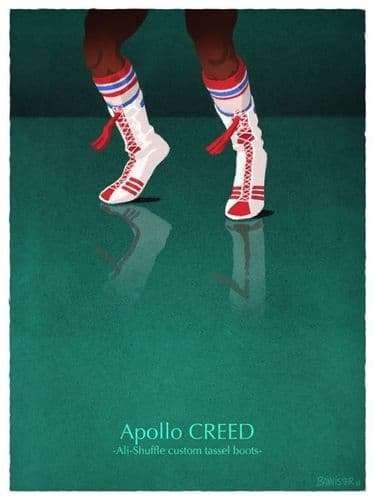 Apollo Creed - Ali-Shuffle custom tassel boots - Rocky Movie Pos