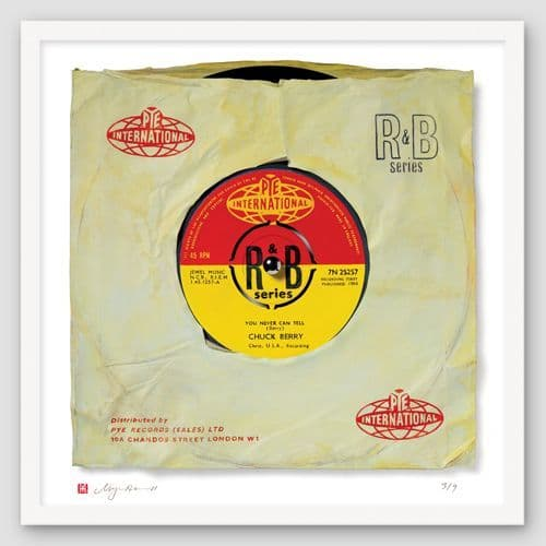 "Chuck Berry ""You Never Can Tell"" Print of Painted Single"