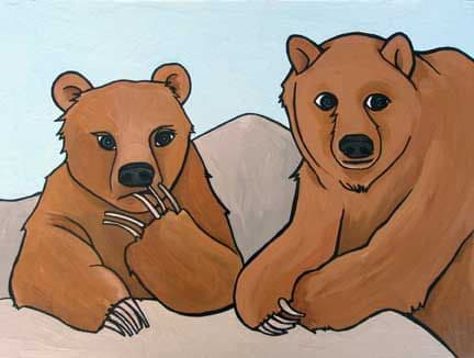 Grizzly Bears Painting 2007