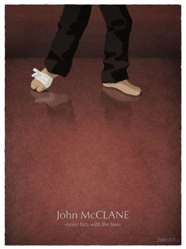 John McClane - make fists with the toes - Die Hard Movie Poster