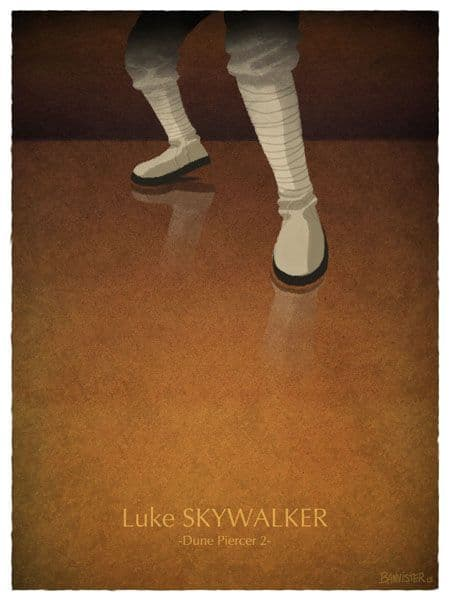 Luke Skywalker - Dune Piercer 2 - Star Wars Movie Poster