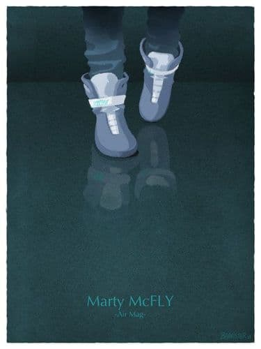 Marty McFly - Air Mag - Back To The Future Movie Poster