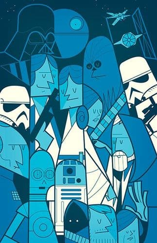 Star Wars Movie Print