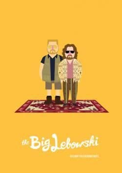 The Dude & Walter - The Big Lebowski Movie Poster