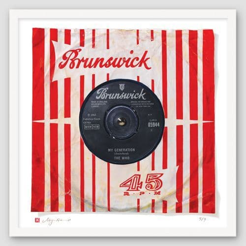 "The Who ""My Generation"" Print of Painted Single"