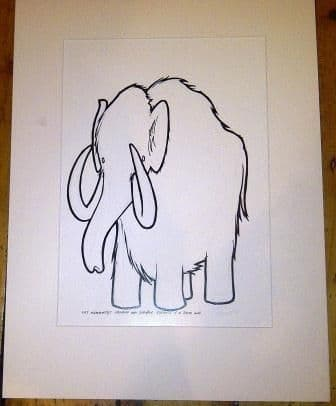 Twenty Dollar Mammoth Original Drawing