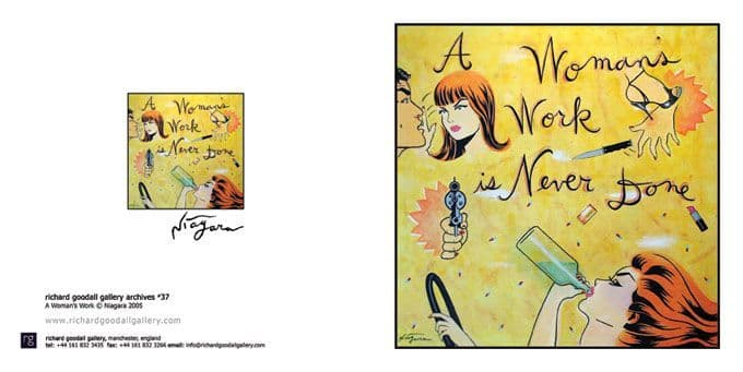 Womans Work Greeting Card Set of 4