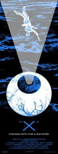 X: The Man with the X-ray Eyes Movie Poster Blue