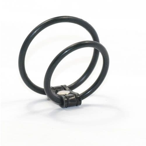 Double Rubber Dual Cock Ring