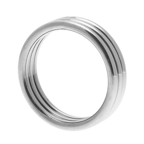 Echo Stainless Steel Triple Cock Ring M/L