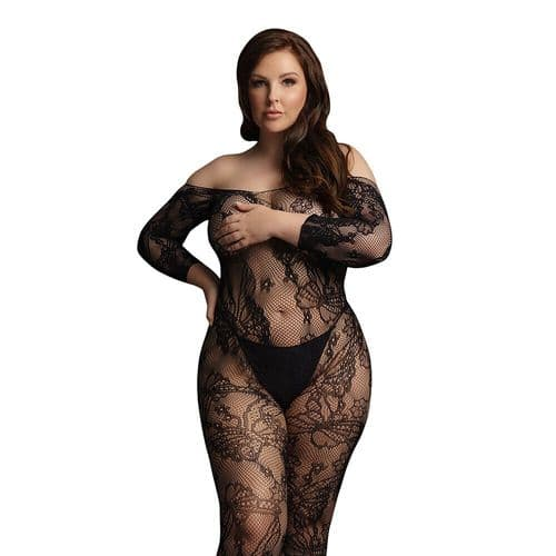 Le Desir Lace Sleeved Bodystocking