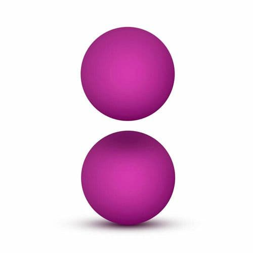Luxe Pink Double O Kegel Balls Weighted