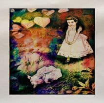Alice In Wonderland Pig Printed Fabric Panel