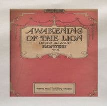 Awakening Of The Lion Book Cover Printed On Fabric Panel