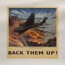 Back Them Up Plane Air Force World War Printed Fabric