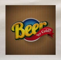 Beer Ice Cold Fabric Panel