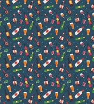 Beer Wine Drinks Alcohol Fat Quarter Pattern Fabric