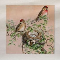 Bird Nest Branch Fabric Panel