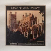 Cathedrals Great Western Railway Travel Printed Fabric Panel