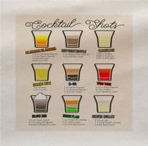 Cocktail Shots Drink Recipe Fabric Panel