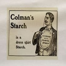 Colman's Starch Is A Dress Shirt Starch Printed Fabric Panel
