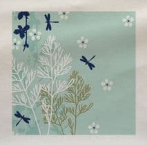Dragonfly Insect floral Illustration Fabric Panel