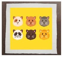 Guinea pigs Printed Fabric Panel