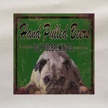 Hand Pulled Beers Ugly Pug Brewing Co Printed Fabric Panel