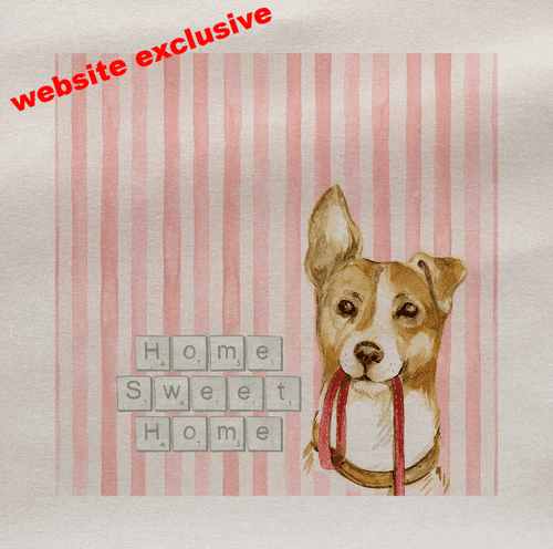 Home Sweet Jack Russel Lead Dogs Pet Fabric Panel