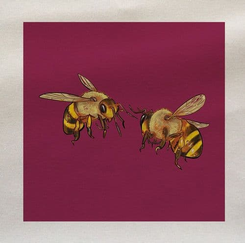 Honey Bees Flying Insect Fabric Panel