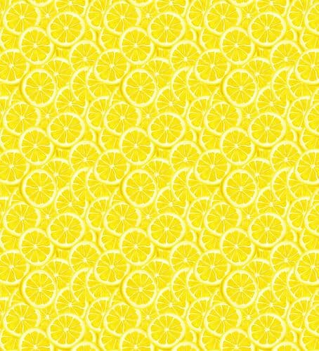 Lemons Fruit Slices Fat Quarter Pattern Fabric
