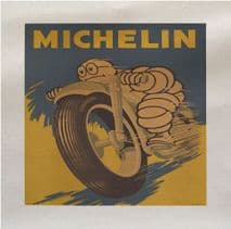 Michelin Motorcycle Tires Tyres Bike Printed Fabric Panel
