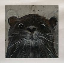 Otter Face Cute Animal Wilflife Country side Fabric Panel