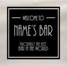Personalised Bar Best Bar in the world Fabric Panel