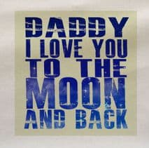 Personalised I Love you Moon Back Fabric Panel