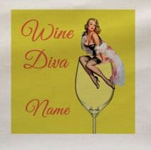 Personalised Wine Diva Pin Up Fabric Panel