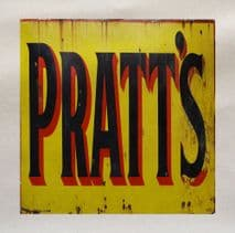 Pratt's Motor Advert Printed Fabric