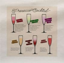 Prosecco cocktail Recipes Drink Fabric Panel