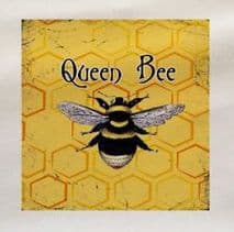 Queen Bee Printed  Fabric Panel