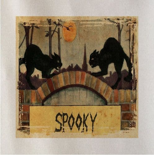 Spooky Halloween Cats Printed Fabric Panel