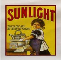 Sunlight Soap Vintage Advert Fabric Panel