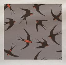 Swallow Pattern Fabric Panel