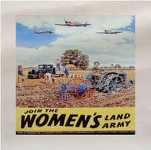 The Womans Land Army World War Printed Fabric