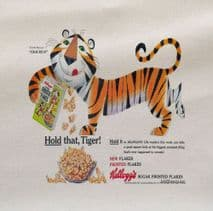 Tiger Kellogg's Frosted Flakes Printed Fabric Panel