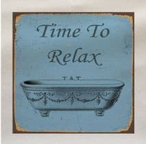 Time To Relax Bath Fabric Panel