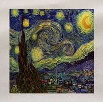 Van gogh starry night Printed Fabric Panel